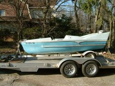 anyone interested in fifty's fiberglass boats with fins Wooden Speed Boats, Wooden Boats, Yacht Boat, Boat Dock, Cabin Cruiser Boat, Wood Canoe, Glass Boat, Outboard Boat Motors, Boat Engine