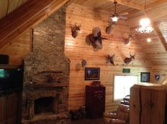 The perfect deer hunting lodge & man cave!