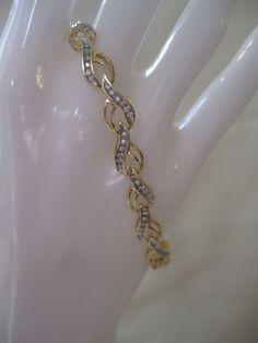 Estate 14kt Diamond Bracelet