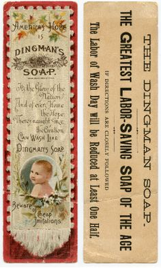 Dingman's Soap - 1885