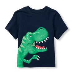 Baby Boys Toddler Boys Short Sleeve Dino Graphic Tee - Blue T-Shirt - The Children's Place