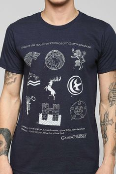 Game of Thrones house sigils tee! #urbanoutfitters