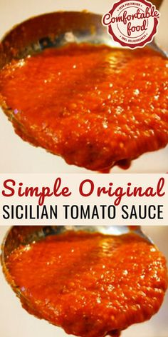 Simple, Beautiful Sicilian Tomato Sauce This traditional Sicilian tomato sauce recipe is so simple, and it's really true that with some great quality ingredients and some time you can have the best Italian tomato sauce ever. Sicilian Tomato Sauce Recipe, Sicilian Recipes, Marinara Sauce Recipe With Tomato Sauce, Simple Tomato Pasta Sauce, Italian Tomato Pasta Sauce, Best Sauce Recipe, Canned Tomato Sauce, Homemade Spaghetti Sauce, Gastronomia