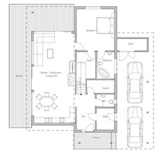 Small House Plan CH51. Floor Plan from ConceptHome.com