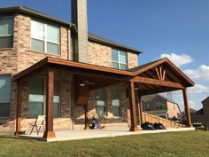 Full Gable Patio Covers Gallery - Highest Quality Waterproof Patio Covers in Dallas, Plano and Surrounding Texas Tx. Landscaping Around Patio, Backyard Covered Patios, Covered Patio Design, Landscaping Ideas, Back Patio, Patio Roof, Patio Awnings, Backyard Patio Designs, Patio Ideas