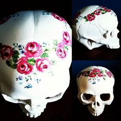 In store 2016 hand made one off porcelain skulls.