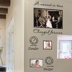 Personalized Family Children Photo Frames Art Wall Stickers Quotes Wall Decals | eBay