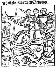An early 1500's woodcut from John Skelton's 'Ballade of the Scottyshe Kynge'