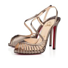 Christian Louboutin Scoubridou Sandals 120mm Leather Bronze
