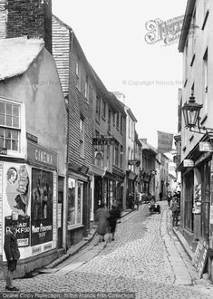 Photo of St Ives, Fore Street 1922 from Francis Frith St Ives Cornwall, Devon And Cornwall, Old Pictures, Old Photos, Vintage Photos, St Ives Beach, Architecture Details, Britain, Past