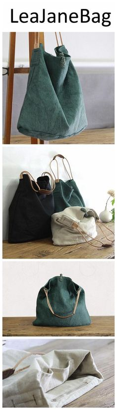 Leather Canvas Bags, Canvas and Genuine Leather Shoulder Bag YY004