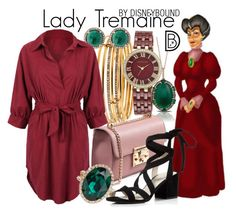 """Lady Tremaine"" by leslieakay ❤ liked on Polyvore featuring Kate Spade, Anne Klein, Marco Moore, WithChic, ALDO, Kenneth Cole, disney, disneybound and disneycharacter"