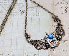 Steampunk Necklace Steam Punk Jewelry Capri by inspiredbyelizabeth, $45.00