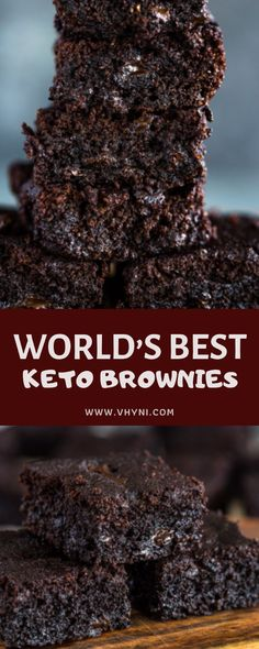 Low Carb Recipes WORLD'S BEST KETO BROWNIES- Vhyni - Moist, chewy and fudgy on the inside with a crisp crinkle layer on the top making these the world's BEST keto brownies. They're rich and del. Keto Foods, Ketogenic Recipes, Ketogenic Diet, Diet Recipes, Sweets Recipes, Keto Snacks, Keto Desert Recipes, Atkins Recipes, Healthy Low Carb Recipes