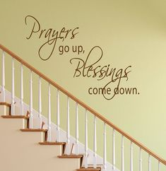 Prayers Go Up Blessings Come Down. Vinyl Sign Wall by Mpressvinyl, $15.99