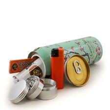 Great gift: Secret Safe Soda Stash Can + Herb Grinder Rasta Cigarette Roller Paper Lighter
