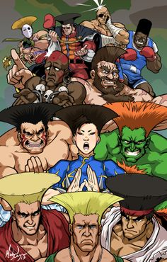 Guile's Hair Goes with (Almost) Everyone - COLORZ by MichaelMayne.deviantart.com on @deviantART