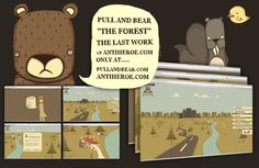 PULL AND BEAR FOREST by Angel De Franganillo, via Behance