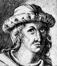 Robert III Stewart, King of Scotland was born in 1337 at Dundonald, Ayrshire, Scotland. He was the son of Robert II  and Elizabeth Mure. Robert was lame, the result of an injury received in a tournament  prior to his succeeding to the throne. He married Annabel Drummond, daughter of Sir John Drummond on 13 March 1365/66. He succeeded to the title of King Robert III of Scotland on 19 April 1390. He died on 4 April 1406 at Rothesay Castle, Dundonald, Scotland and was buried at Paisley Abbey.