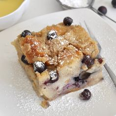 Cooking with Manuela: Homemade Blueberry Bread Pudding