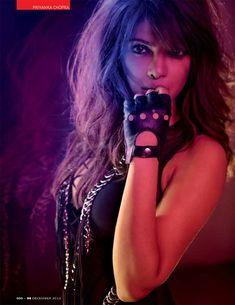 Priyanka Chopra Dons Glam Rock Style for GQ Indias December Issue