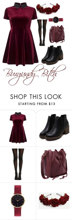 """Burgundy"" by lillianb21 on Polyvore featuring Miss Selfridge and Abbott Lyon"
