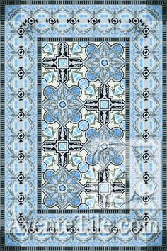 Cuban Heritage Design is a flexible pattern for walls and floors in tan and gray. All Cuban tiles are based on historical patterns from Cuba.
