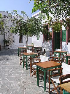Traditional cafe in Folegandros island, Greece