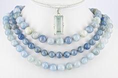 Gemella- Vicki and Kerrie Corney Aquamarine Pendant, Aquamarine Necklace, Beaded Necklace, Australian Art, Jewerly, Fine Jewelry, Handmade Jewelry, Jewelry Design, Fashion Jewelry