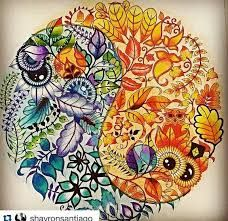 Imagini pentru enchanted forest coloring book ying yang