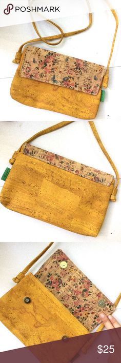 ✨New✨eco friendly cork purse This adorable crossbody is made in Portugal using sustainable materials. NWOT, adjustable strap length! Offers welcome! Bags Crossbody Bags