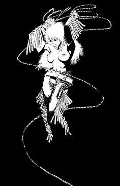 Sin City: Nancy by Frank Miller Frank Miller Sin City, Frank Miller Art, Frank Miller Comics, Comic Book Artists, Comic Artist, Comic Books Art, Sin City Comic, Bts Design Graphique, Cyberpunk