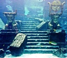 Sunken ruins of Dwarka