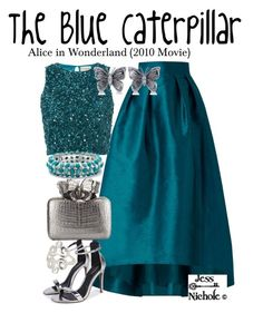"""The Blue Caterpillar"" by jess-nichole ❤ liked on Polyvore featuring Coast, Lace & Beads, Allurez, Nancy Gonzalez and Palm Beach Jewelry"