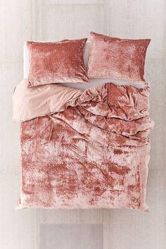 Shop Skye Velvet Duvet Cover at Urban Outfitters today. Comforter Cover, Duvet Bedding, Boho Bedding, Duvet Cover Sets, Linen Bedding, Bed Linens, Comforter Sets, King Comforter, Fluffy Bedding