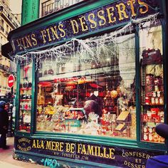 On the hunt for a birthday cake worthy of a trip to Paris.but this is a candy store. Not just any candy store, a really amzing story behind it candy store. I l❤VE France! À la mère de famille - Paris Paris France, Oh Paris, I Love Paris, Montmartre Paris, Paris Cafe, Paris Travel, France Travel, The Places Youll Go, Places To See