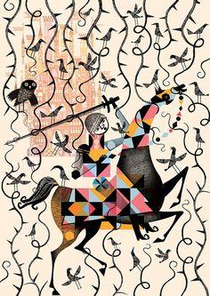 #Geometric #mythology #illustration by  Lesley Barnes