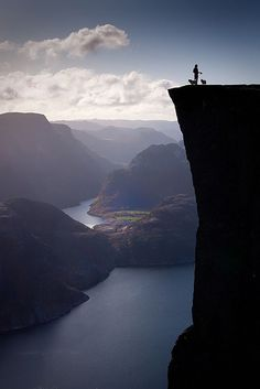 Pulpit Rock in Stavanger, Norway - I was at the bottom looking up, thinking that I should be up there instead