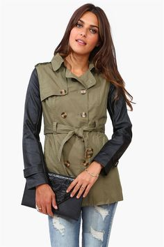 Miss Necessary Trench Coat - Olive