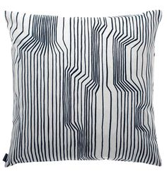 Marimekko 'Frekvenssi' cushion in black and white upholstery weight Design Shop, House Design, Cushion Covers, Pillow Covers, Nordic Design, Luxury Home Decor, Textile Patterns, Home Decor Accessories, Crate And Barrel