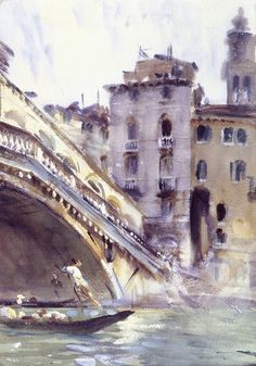 John Singer Sargent watercolor: Venice