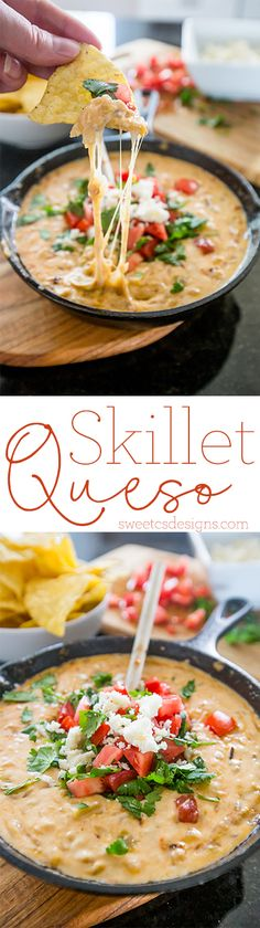 This is the most delicious queso ever! - with a skillet and some ingredients from #worldmarket ! #worldmarkettribe
