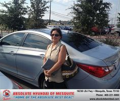 Thank you to Dominga Hernandez on your new 2013 Hyundai Sonata from Jerry Michalak and everyone at Absolute Hyundai!