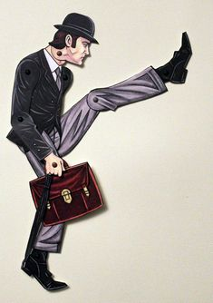 Ministry of Silly Walks John Cleese Articulated Paper Doll - Monty Python Lovers. $11.00, via Etsy.