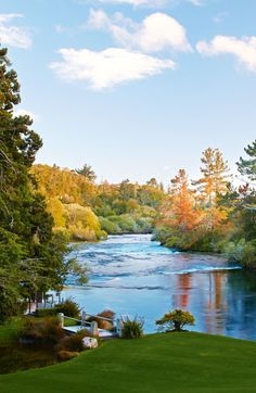 Waikato River at Huka Lodge, New Zealand