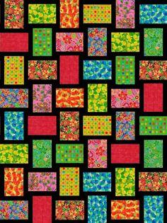 Bright Ideas Pre-Cut Quilt Blocks Kit 30x40 from Quilt Kit Shop