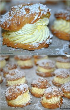 How To Make The Best Ever Cream Puffs Recipe Learn how to make the best ever cream puffs recipe. We have a video tutorial to show you how plus we feature some other favorite versions. Cream Puff Filling, Cream Puff Recipe, Cream Recipes, Cream Puff Dessert, Custard Filling, Laceys Cookies Recipe, Cheesecakes, Delicious Desserts, Dessert Recipes