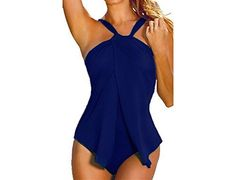 New One Piece Swimwear Women Halter Sexy Swim Suit Padded Push Up Vintage Beach Bathing Suits Monokini Swimsuits Maillot De Bain Plus Size Bikini Bottoms, Women's Plus Size Swimwear, Brown Swimsuit, Slimming Bathing Suits, Pullover Shirt, Monokini Swimsuits, Bikini Swimwear, Bikini Set, Beach Swimsuits