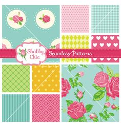 Set of floral seamless patterns and backgrounds vector  - by woodhouse84 on VectorStock®