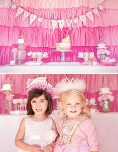 Love love the ruffles backdrop.  Great for a party then use it for a curtain.